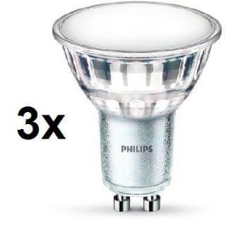 Philips LED spot classic 4,5-50W GU10 denní bílá 3 ks