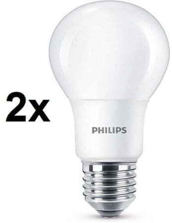 Philips żarówka CorePro LED 8 - 60W E27 ciepła biel, 2 szt