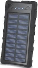 Forever Power banka (8 000 mAh; 2x USB), solární, černá