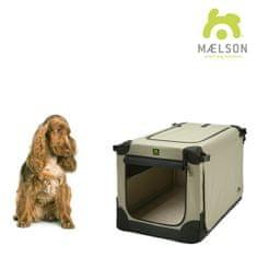 Maelson skrzynia dla psa Soft Kennel, czarny/beżowy