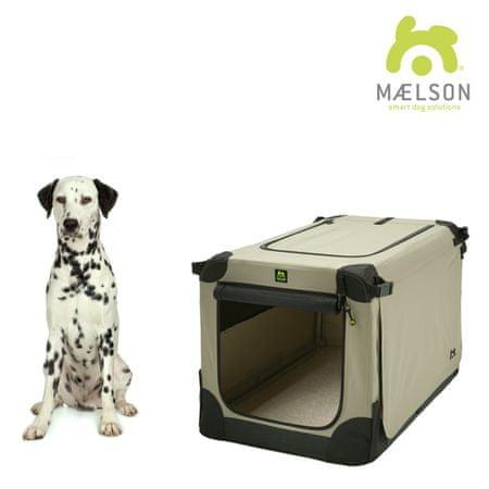 Maelson skrzynia dla psa Soft Kennel, czarny/beżowy, rozm. 82