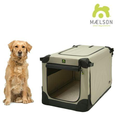 Maelson skrzynia dla psa Soft Kennel, czarny/beżowy, rozm. 92