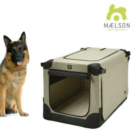 Maelson skrzynia dla psa Soft Kennel, czarny/beżowy, rozm. 105