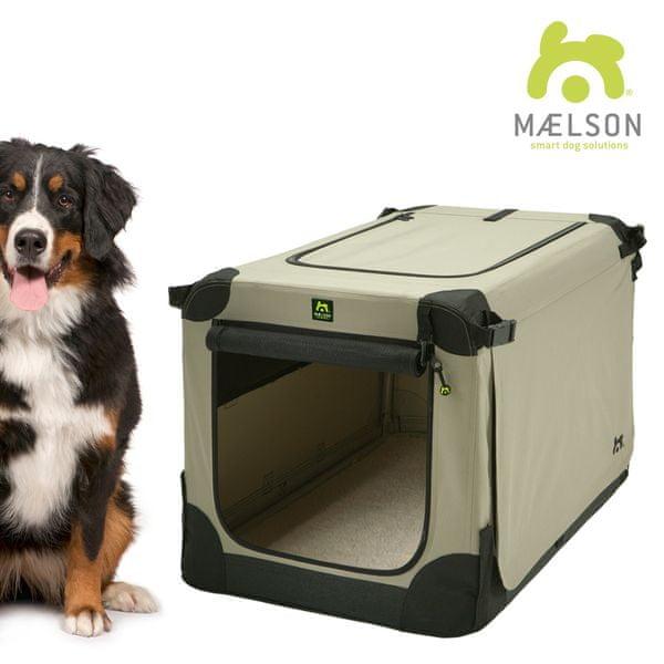 Maelson Přepravka Soft Kennel černá / béžová vel. 120