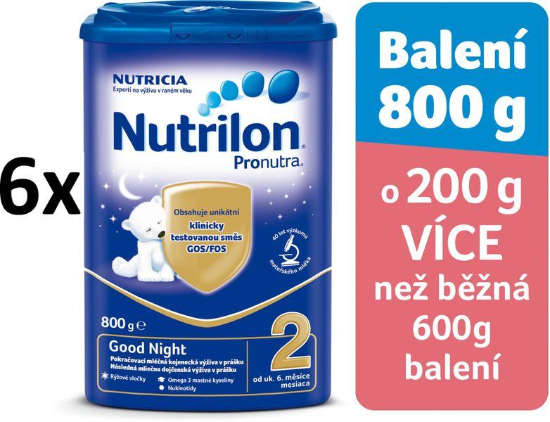 Nutrilon 2 Pronutra Good Night - 6 x 800g