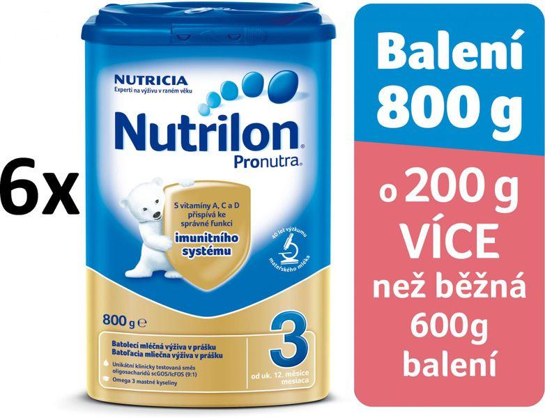 Nutrilon 3 Pronutra - 6 x 800g