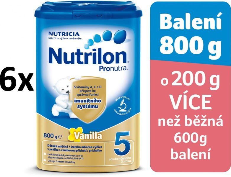 Nutrilon 5 Pronutra Vanilla - 6 x 800g