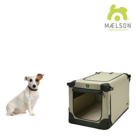 Maelson transportni zaboj Soft Kennel črno/bež, vel. 52