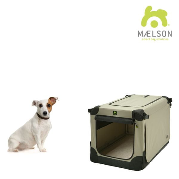 Maelson Přepravka Soft Kennel s popruhy černá / béžová vel. 62