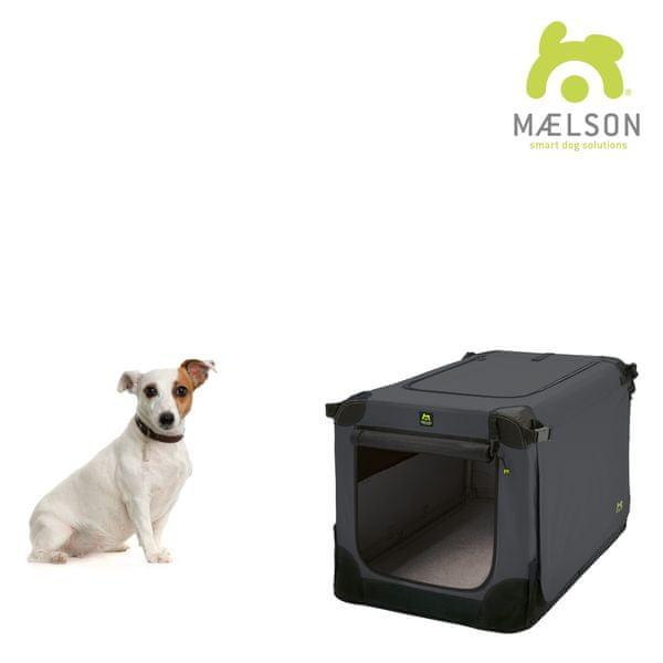 Maelson Přepravka Soft Kennel s popruhy černá / antracitová vel. 62