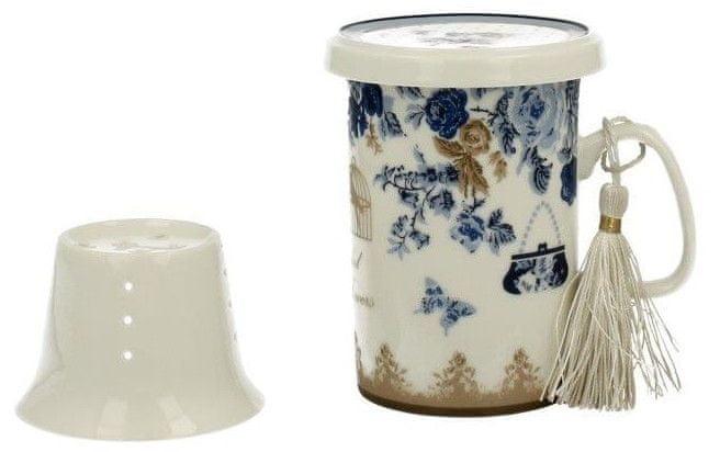 Marex Trade Hrnek na čaj s víčkem a čajítkem ALASKA 320ml v dárkovém balení