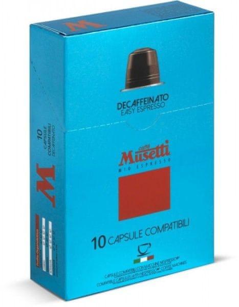 Caffé Musetti Decafeinato 10ks balení