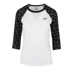 Vans ženska majica Floral, črno-bela
