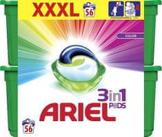 Ariel Color 3v1 gélové kapsuly 56 ks