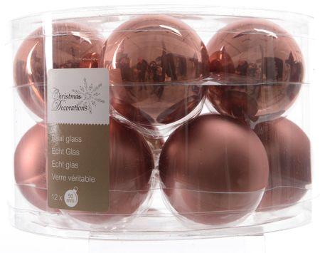 Kaemingk Božični okraski bunke 12 kosov, roza