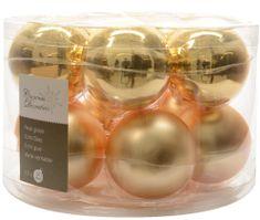 Kaemingk Božični okraski bunke 12 kosov, zlata
