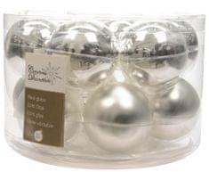 Kaemingk Božični okraski bunke 12 kosov, srebrna