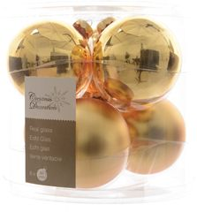 Kaemingk Božični okraski bunke 6 kosov, zlata