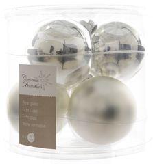 Kaemingk Božični okraski bunke 6 kosov, srebrna