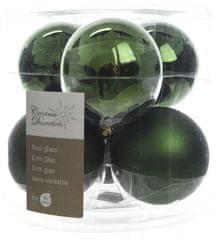 Kaemingk Božični okraski bunke 6 kosov, temno zelena