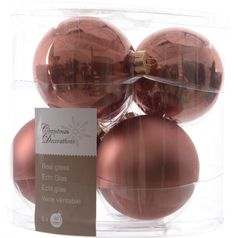Kaemingk Božični okraski bunke 6 kosov, roza