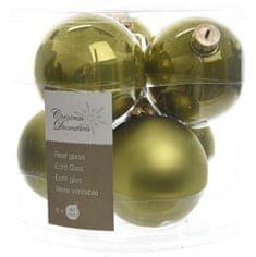 Kaemingk Božični okraski bunke 6 kosov, olivno zelena