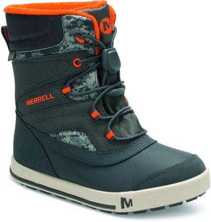 Merrell otroški škornji Snow Bank 2.0 WTPF, sivo-oranžni, 30