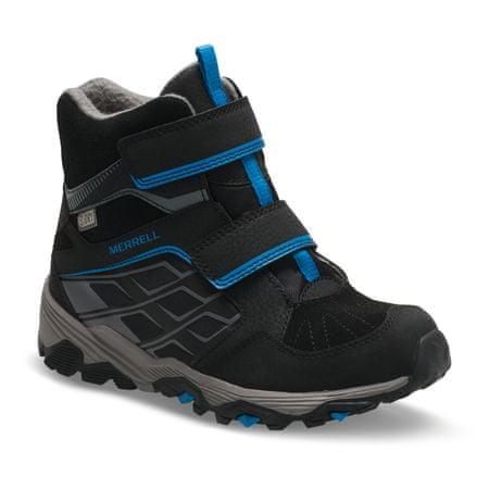 Merrell otroški škornji Moab FST Polar WTPF, črno-modri, 34