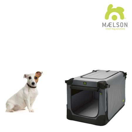 Maelson Prepravka Soft Kennel s popruhmi čierna / šedá vel. 62