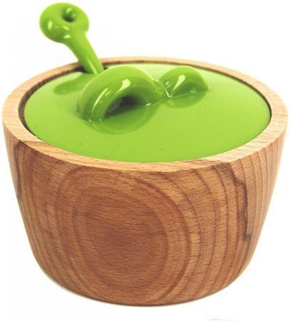 Marex Trade Cukornička + viečko + lyžička, séria BUBBLES zelená