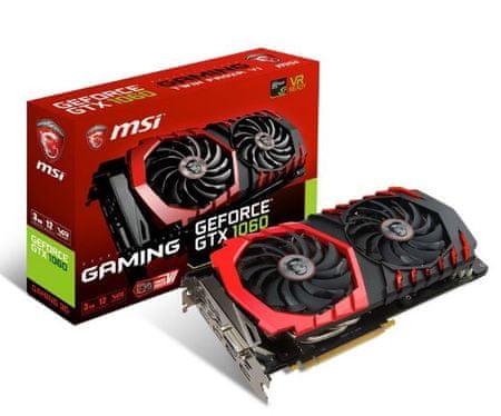 MSI grafična kartica GeForce GTX 1060 Gaming OC 3GB GDDR5 (GTX 1060 GAMING 3G)
