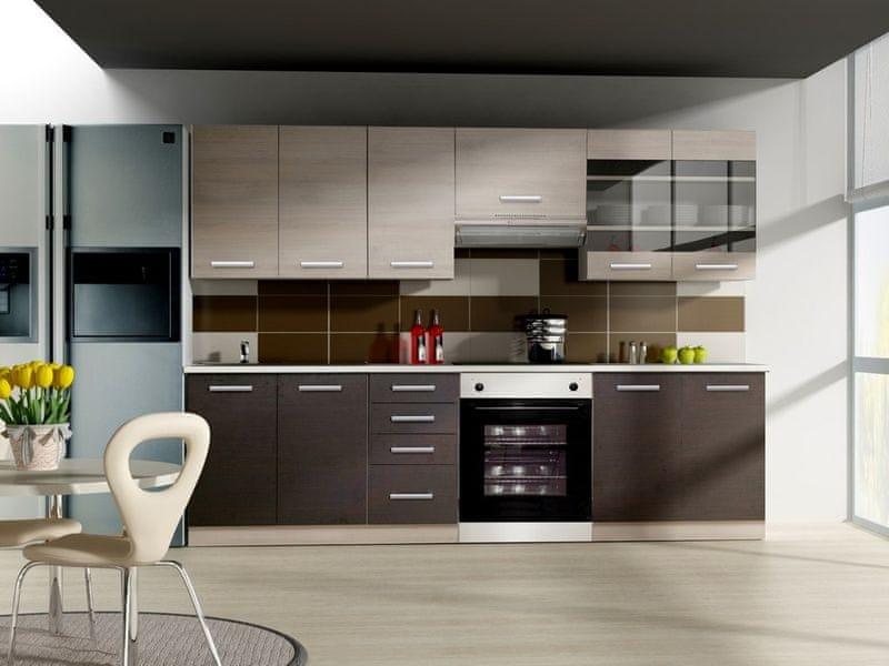 Kuchyně CHAMONIX 180/240 cm, tmavé legno/chamonix