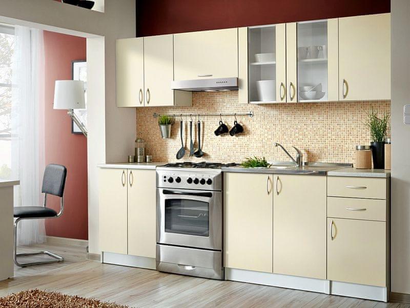 Kuchyně JOLANA II 180/240 cm, vanilka