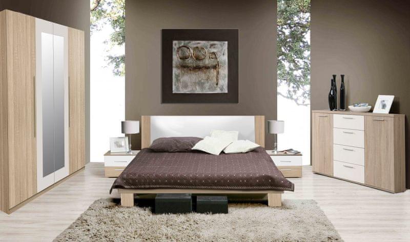 HELEN, ložnice komplet, dub sonoma/bílá
