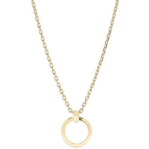 Fossil Zlatý náhrdelník na přívěsky JF00518710