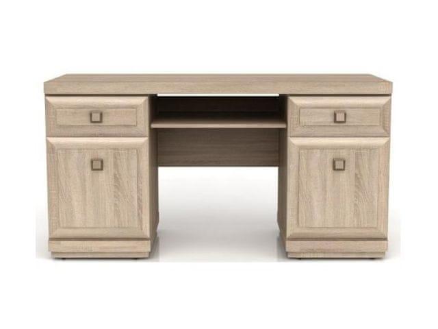PC stůl se zásuvkami a skříňkami OREGON, BIU2D2S, dub sonoma