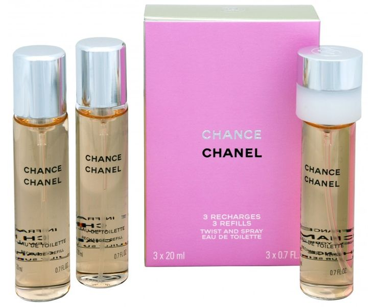Chanel Chance - EDT - náplň (3 x 20 ml) 60 ml