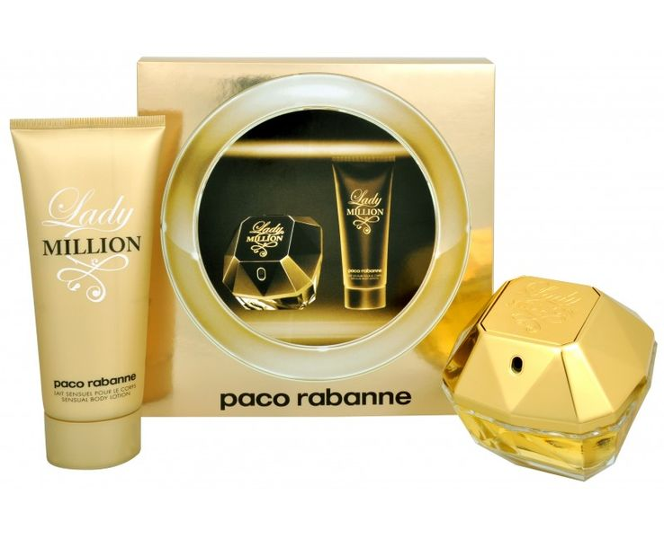 Paco Rabanne Lady Million - EDP 80 ml + tělové mléko 100 ml