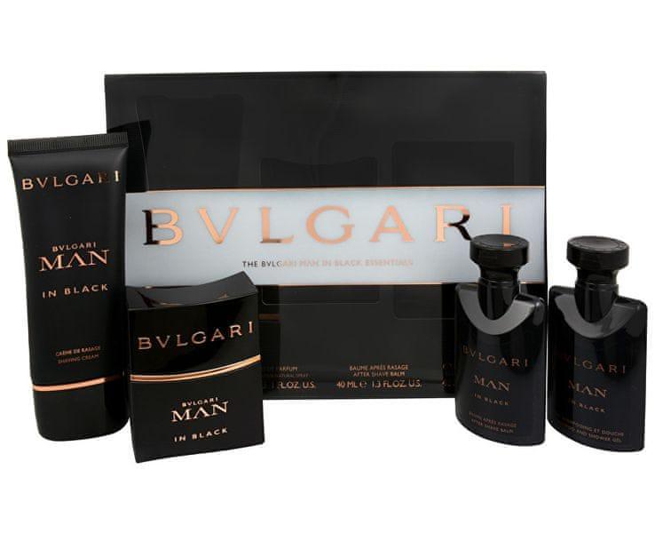 Bvlgari Man In Black - EDP 30 ml + krém na holení 50 ml + balzám po holení 40 ml + sprchový gel 40 ml