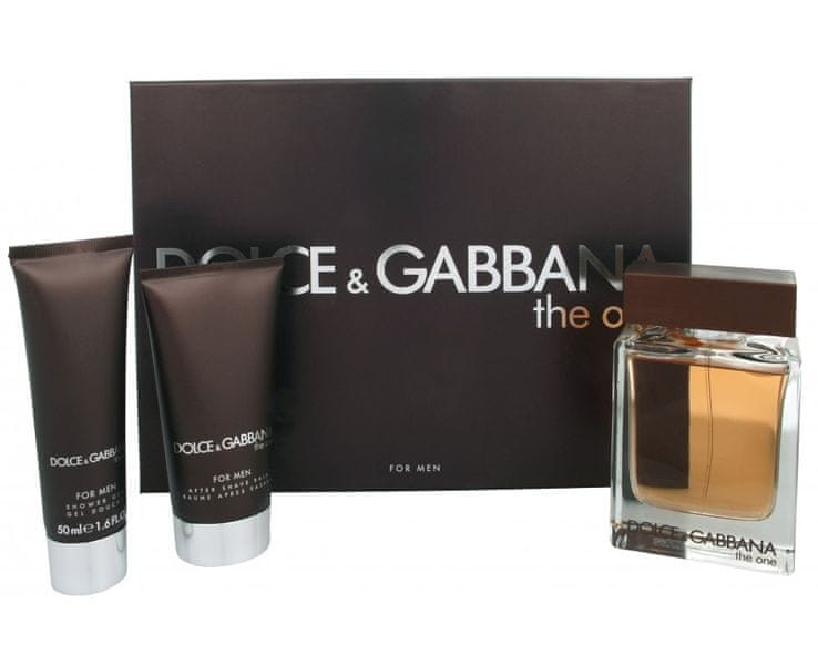 Dolce & Gabbana The One For Men - EDT 100 ml + balzám po holení 75 ml + sprchový gel 50 ml