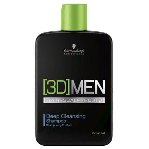 Schwarzkopf Prof. Hloubkově čisticí šampon pro muže 3D (Deep Cleansing Shampoo) (Objem 1000 ml)
