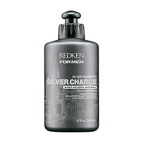 Redken Posilující šampon pro muže pro šedé a bílé vlasy Silver Charge (Fortifying Silver Shampoo) 300 ml