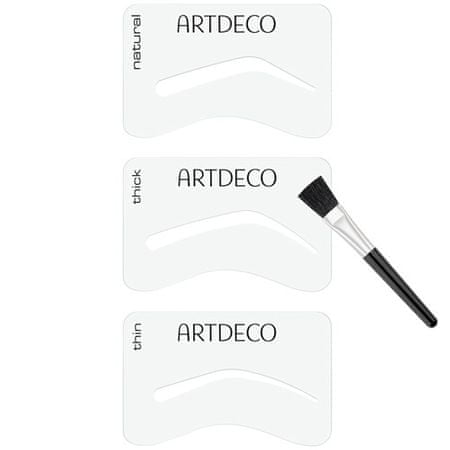 Artdeco Šablóny na obočie so štetcom (Eyebrow Stencils with Brush Applicator)