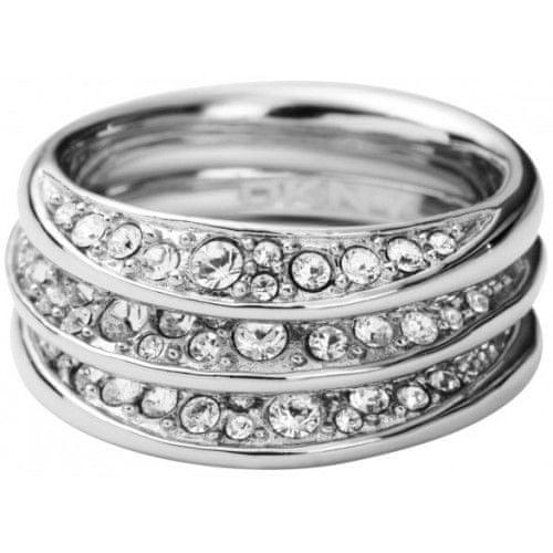 DKNY Prsten s krystaly NJ1853040 (Obvod 60 mm)