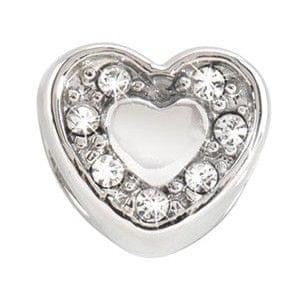 Morellato Ocelový přívěsek Drops Heart Crystals SCZ126