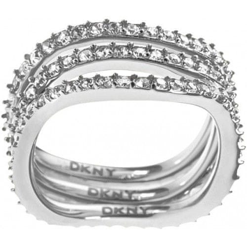 DKNY Trojitý prsten s krystaly NJ1919040 (Obvod 56 mm)
