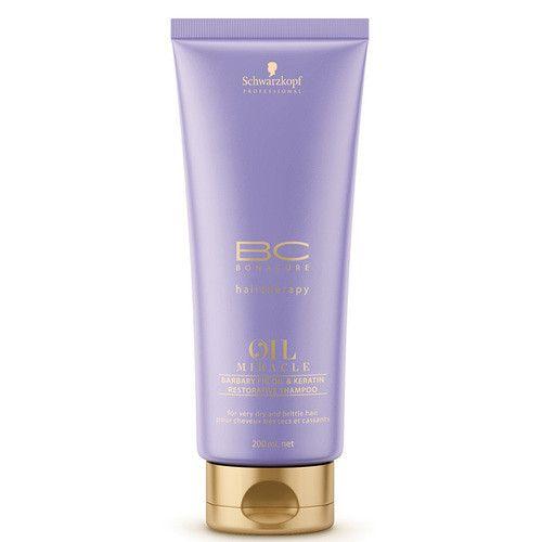 Schwarzkopf Prof. Obnovující šampon BC Bonacure Oil Miracle (Barbary Fig Restorative Shampoo) (Objem 200 ml)