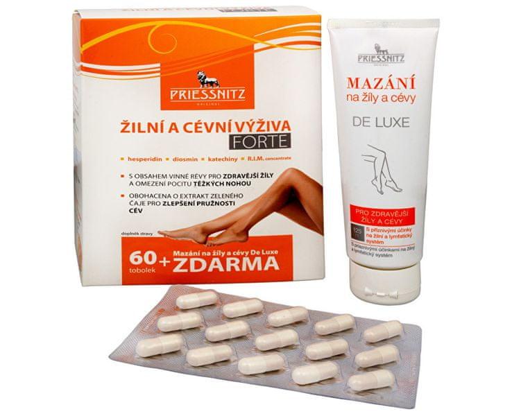 Simply you Priessnitz Žilní a cévní výživa Forte 60 tob. + Mazání na žíly a cévy De Luxe 125 ml ZDARMA