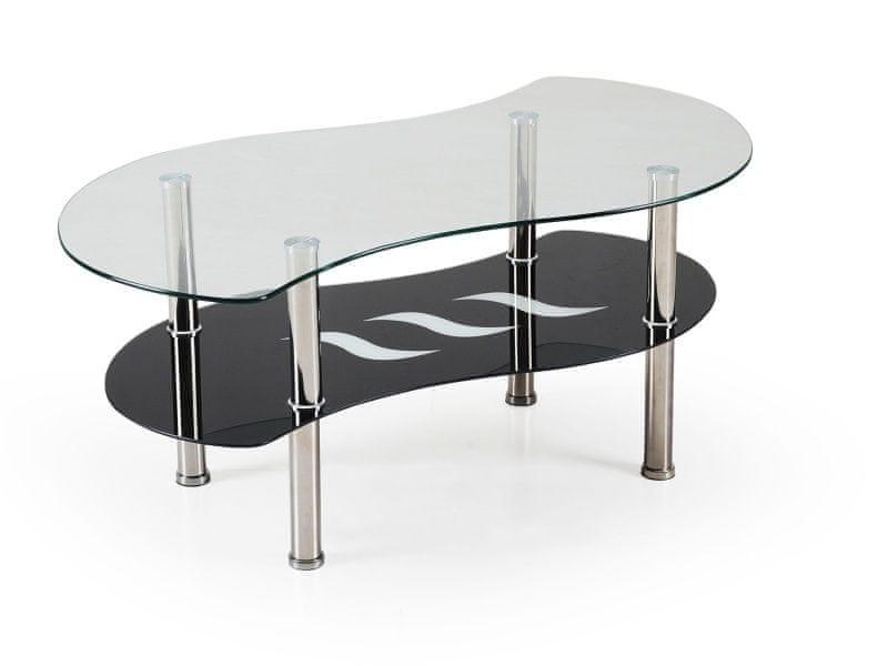 Konferenční stolek CATANIA, kov/sklo