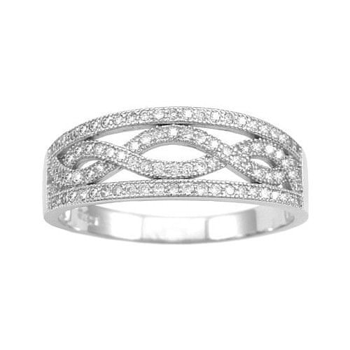 Silvego Stříbrný prsten Aida JJJR0120 (Obvod 49 mm)